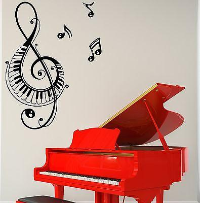Wall Vinyl Music Notes Song Singing Guaranteed Quality Decal Unique Gift (z3526)