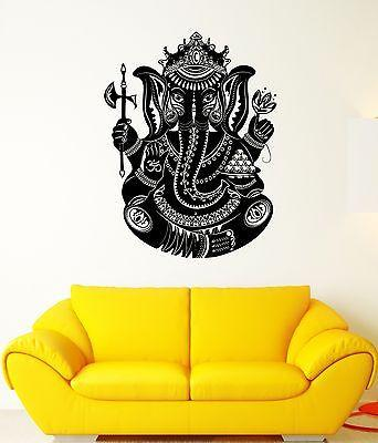 Wall Decal India Elephant Ganesha God Trunk Wealth Art Vinyl Stickers Unique Gift (ed129)