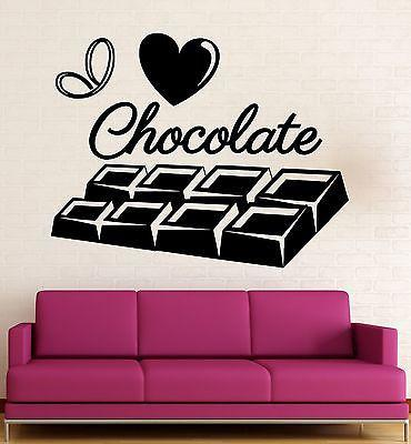 Wall Sticker Vinyl Decal I Love Chocolate Decor Kitchen Sweet Tooth (ig2131)