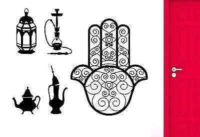 Wall Sticker Hamsa Hookah I Love Smoke Smoking Muslim Arabic Decor Unique Gift (z2564)