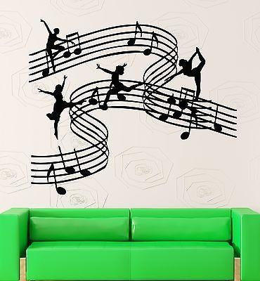 Wall Stickers Music Notes Musical Girl Muses Decor Vinyl Decal (ig2365)