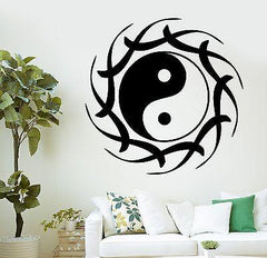 Wall Decal Buddha Yin Yang Lotus Meditation OM Vinyl Sticker Unique Gift (z2889)