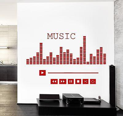 Wall Vinyl Music Player Equalizer Good Sound Guaranteed Quality Decal Unique Gift (z3540)