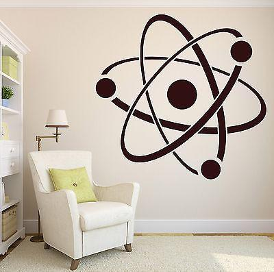 Wall Stickers Vinyl Decal Atom Molecule Chemistry Symbol Structure Core Unique Gift (n131)