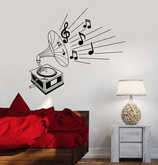 Wall Vinyl Music Gramophone Retro Classic Art Guaranteed Quality Decal (z3518)