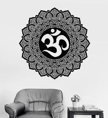 Wall Sticker Mandala Buddha Om Sign Symbol Meditation Vinyl Decal (z2923)
