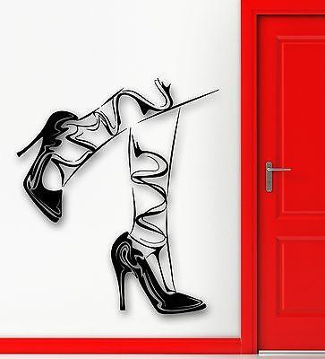 Wall Sticker Vinyl Decal Sexy Legs Stockings Girl Shoes Fashion Style Unique Gift (ig1819)