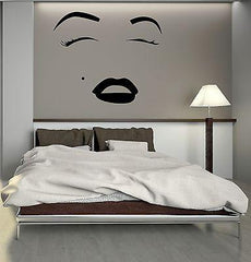 Face Makeup Lip Cosmetics Beauty Salon Woman Wall Sticker Vinyl Decal Unique Gift (ig2057)