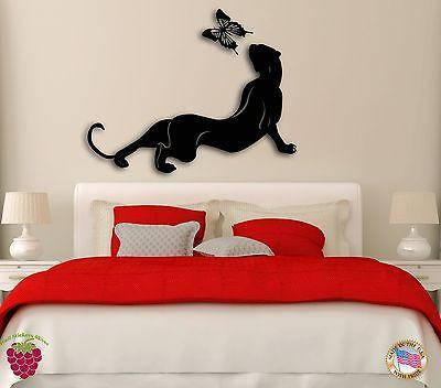 Wall Sticker Animals Cougar And Butterfly for Bedroom z1262
