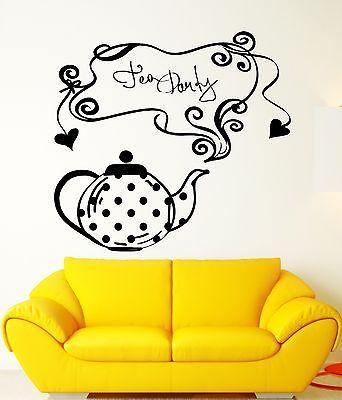 Wall Sticker Vinyl Decal Tea Party Kitchen Cafe Restaurant Teahouse (ig2175)