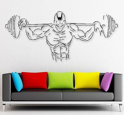 Wall Sticker Vinyl Decal Gym Fitness Bodybuilding Sport Muscled Unique Gift (i2230)