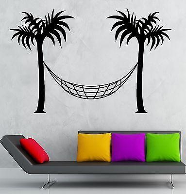 Wall Decal Hammock Isle Palms Tourism Travel Vinyl Stickers Art Mural Unique Gift (ig2556)