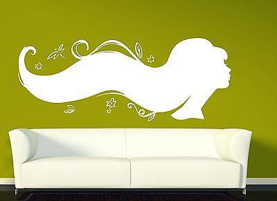 Wall Vinyl Sticker Silhouette Sexy Girl's Beautiful Hairstyle Beauty Salon Unique Gift n242