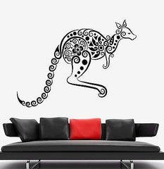 Wall Decal Kangaroo Animal Australia Ornament Mural Vinyl Decal Unique Gift (z3330)