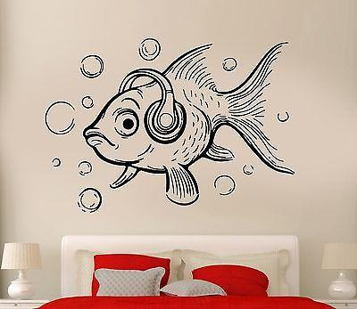 Wall Decal Fish Ocean Sea Lake Fishing Cool Relax Decor For Bedroom Unique Gift (z2748)