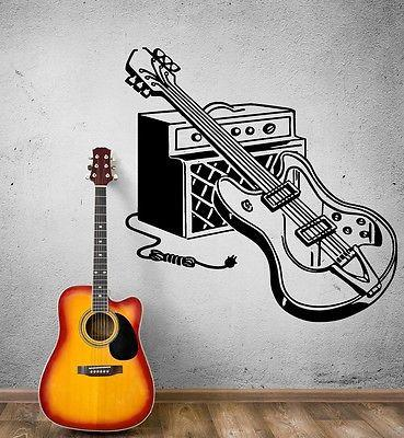 Wall Sticker Vinyl Decal Electric Guitar Rock Music Pop Decor (ig1861)
