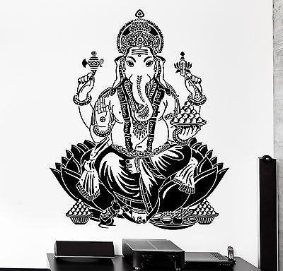 Wall Decal Buddha Lord Ganesha Indian God Buddhism Vinyl Sticker Unique Gift (z2872)