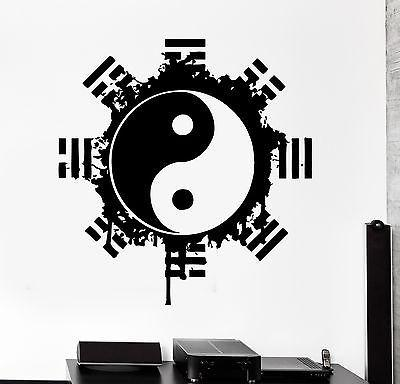 Wall Decal Buddha Yin Yang Yoga Meditation Relaxation Mandala Zen Decor Unique Gift (z2671)