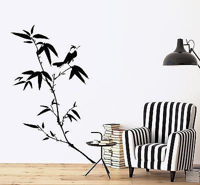 Wall Decal Tree Bamboo Bird Branch Vinyl Sticker Unique Gift (z3640)