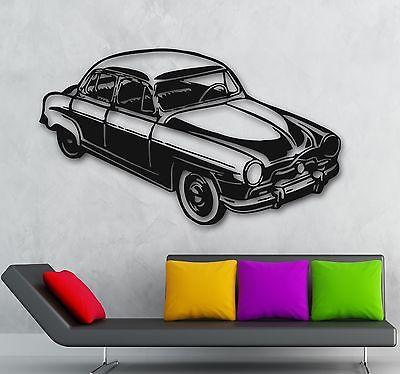 Wall Stickers Vinyl Decal Retro Vintage Car Old Classic Garage Decor Unique Gift (ig808)