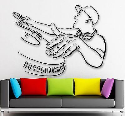 Wall Stickers Vinyl Decal DJ Rap Music Hip Hop Night Club Party (ig426)