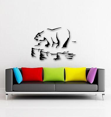 Wall Stickers Vinyl Decal Polar Bear Arctic Ice Floe Animal  (ig337)