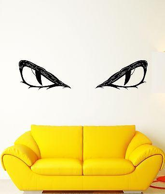Vinyl Decal Wall Sticker Animal Predator Eyes Pupils Evil Mural (ed253)