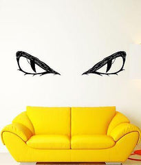 Vinyl Decal Wall Sticker Animal Predator Eyes Pupils Evil Mural Unique Gift (ed253)