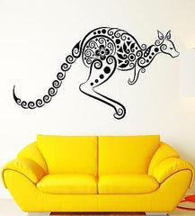 Kangaroo Vinyl Decal Australia Animal Pattern Decor Wall Stickers Unique Gift (ig2314)