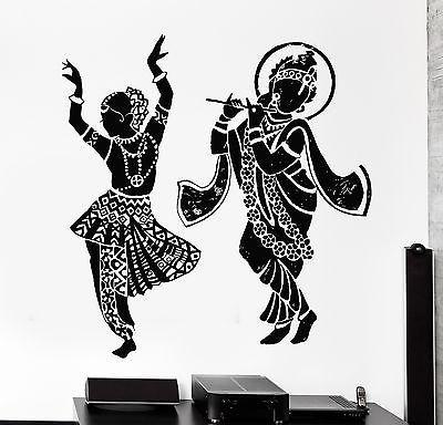 Indian Wall Decal Buddha Dance Dancing Indian Hinduism Gods Vinyl Sticker (z2879)