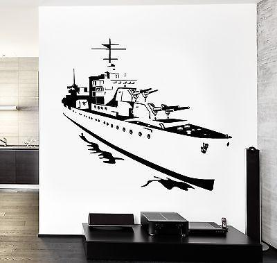Wall Vinyl Battleship Navy Ship War Guaranteed Quality Decal (z3470)