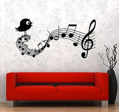 Wall Vinyl Music Notes Bird Clef Guaranteed Quality Decal (z3519)