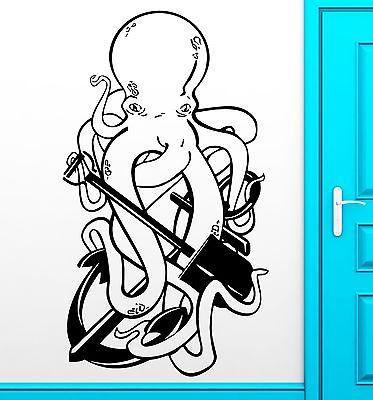 Wall Sticker Vinyl Decal Octopus Ocean Anchor Pirate Funny Cool Decor (z2489)