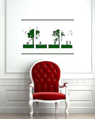 Vinyl Decal Nature Landscape Happy People Trees Peace Decor Wall Sticker Unique Gift (m010)