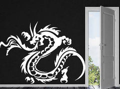 Decor Wall Sticker Vinyl Decal Flame Dragon Claws Horn Tail Body Gyrus Unique Gift (n033)