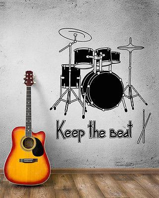 Wall Decal Music Art Rock Drum Rhythm Сoncert Beat Vinyl Stickers Unique Gift (ed008)