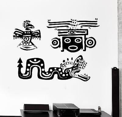 Wall Decal Indian Mexican Animal Ornament Cool Mural Vinyl Decal Unique Gift (z3154)