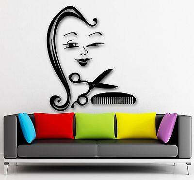 Wall Sticker Vinyl Decal Positive Girl Barbershop Stylist Hairdresser Unique Gift (ig2132)