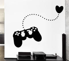 Wall Stickers Joystick Gamer Play Room Video Games Teen Vinyl Decal Unique Gift (ig2481)