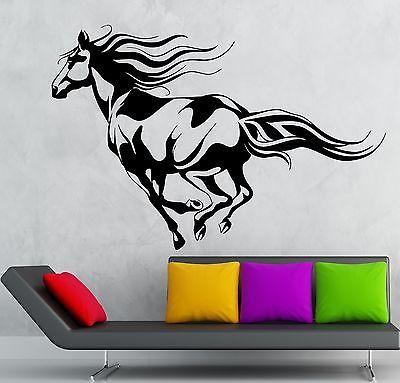 Wall Sticker Vinyl Decal Beautiful Horse Animal Rides Great Room Decor (ig2182)