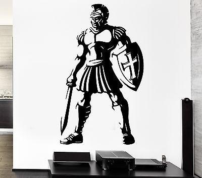 Wall Decal Warrior Ancient Rome Weapons Sword Gladiator Vinyl Stickers Unique Gift (ed179)