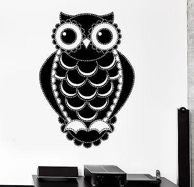Wall Decal Birds Owl Forest Ornament Cool Mural Vinyl Decal Unique Gift (z3151)