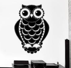 Wall Decal Birds Owl Forest Ornament Cool Mural Vinyl Decal (z3151)