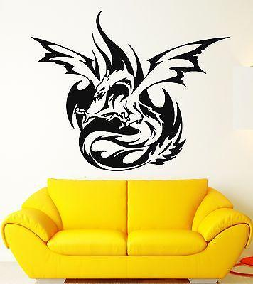 Wall Sticker Vinyl Decal Phoenix Bird Fantasy Nursery Kids Baby Room Unique Gift (ig682)