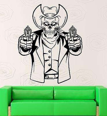 Wall Sticker Vinyl Decal Texas Cowboy Dead Mafia Gun Cool Room Decor Unique Gift (ig2184)