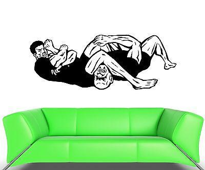Wall Decal Fight Parterre Armlock Victory Martial Art Vinyl Stickers (ed079)