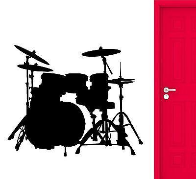 Wall Stickers Drums Musical Instrument Vinyl Decal (ig2367)