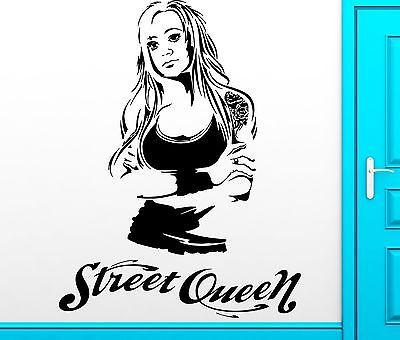 Wall Sticker Vinyl Decal Super Sexy Girl Street Queen Cool Decor Unique Gift (z2459)