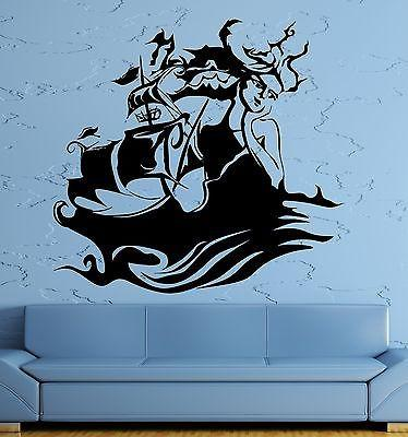 Wall Sticker Vinyl Decal Siren Ocean Marine Ship Sea Decor Abstract Unique Gift (ig1840)