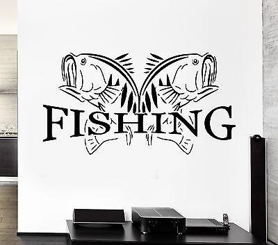 Wall Decal Fishing Fish Lake Relax Relaxation Cool Decor For Living Room Unique Gift (z2758)
